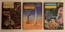 Lot of 3 The Magazine of Fantasy and Science Fiction March April 1957 1963 Space
