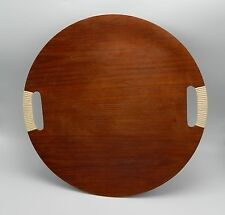 Vintage ARY? Teak Bent Plywood Tray Sweden Mid Century Modern Large 14 1/4""