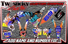 KTM SXF 125/150/250/450 kit de gráficos con Números Etc-Personalizado 2002-2016