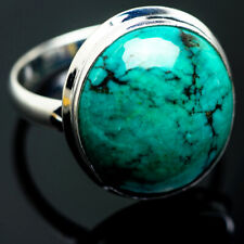 Large Tibetan Turquoise 925 Sterling Silver Ring Size 15 Ana Co Jewelry R999724F