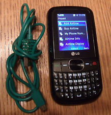 Samsung TracFone GPLG500GB LG500G QWERTY Cell Phone Camera W/USB CHARGER