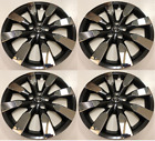 """Set of 4 Wheel Covers Hubcaps Fit 2014-2016 Toyota Corolla 16"""" Charcoal/ Chrome"""
