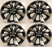 """Set of 4 Wheel Covers Hubcaps Fit 2014-2016 Toyota Corolla 16"""" Chrome / Black"""