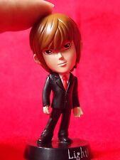 """Death Note LIGHT YAGAMI Bobblehead Figure / SOLID PVC 2.8"""" 7cm MINT UK DESPATCH"""