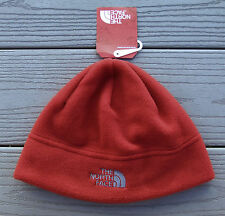 """NWT NORTH FACE """"Standard Issue"""" Adult Fleece Beanie Hat-S/M @$25 RAGE RED"""
