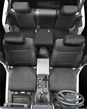 Smittybilt Black/Black Front + Rear Pair Neoprene Seat Covers Jeep JK 13-18 4-DR
