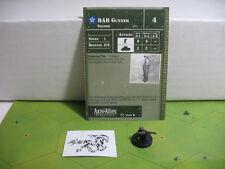 Axis & Allies Set 2 II BAR Gunner with card 20/45