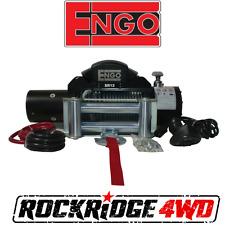 "Engo SR12 Electric 12k Cable Winch 3/8 X 85"" & ROLLER FAIRLEAD w/ Wired Remote"