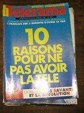 Télérama N° 2049 1989 10 raisons pour ne pas avoir la télé Savants / Révolution