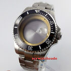 40mm sapphire glass date sub Watch Case fit ETA 2824 2836 miyota 8215 MOVEMENT
