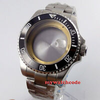 40mm sapphire glass date sub Watch Case fit ETA 2824 2836 miyota 8215 MOVEMENT