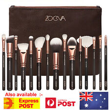 15PCS ZOEVA Makeup Brush Set Cosmetic Complete Eye Kit Powder Rose Golden