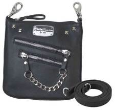 Harley-Davidson Women's Chain Gang Deluxe Leather Clipbag w/ Strap CG2351L-BLK