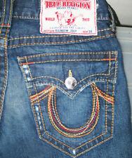 *HOT TRUE RELIGION @ JOEY RAINBOW FLARED BOOTCUT DARK Jeans 29 x 31 (Fit 30 x31)