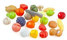 Casdon Cut and Play Plastic Food Fruit Veg Bread Meat Velcro Cutting Knife Toy