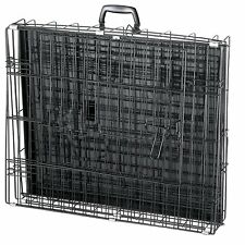 LARGE EXTRA LARGE BREED Cage 42 x 28 x 30 Metal Folding XXL Big Dog K9 Fold Up