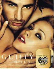 PUBLICITE ADVERTISING 094  2012  GUCCI  parfum pour homme GUILTY