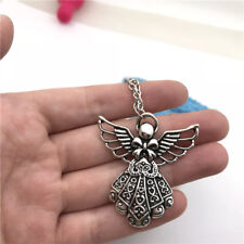 Angel Big Necklace Charms Jewelry Tibet silver Pendant Chain Necklace