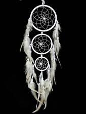 Traumfänger Dreamcatcher Ø 11,5cm Größe ca. 20x52cm weiß Indianer, gute Träume