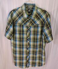 NEW Eddie Bauer Shirt LT TALL First Ascent Blue Brown Plaid short sleeve NWOT