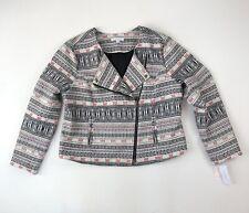 NWT FOXCROFT Cropped Tribal Aztec Moto Style Jacket Blazer Sz XL Snap Collar