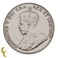 1929 Canada 5 Cents Variety Far Rim in Unc, KM# 29