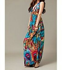Sundress, beach, Summer, long dress, peacock, blue, one size