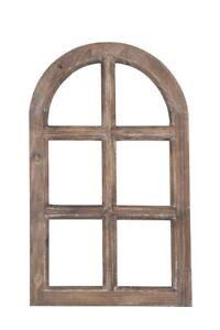 Dekorahmen Fenster Holz Dekofensterrahmen Holzfenster 48x29 braun Shabby Chic