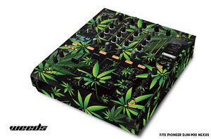 Skin Decal Wrap for PIONEER DJM-900 DJ Mixer CD Pro Audio DJM900 Parts WEEDS BLK