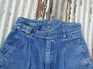 Vintage 1980s High Waisted Two One Two Checkered Patterned Denim Mom Jeans 9/10