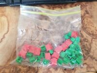 1973 Vintage Monopoly Replacement Pieces - Houses and Hotels