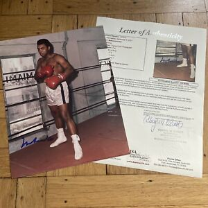 + Muhammad Ali In Ring Signed Auto Autograph 8x10 Color Photo Cassius Clay