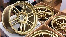 AME TM02 18x10.0 +15 5x114.3 Gold - Lancer Evolution 10 Evo X (4 Wheels)