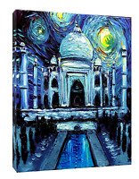 VAN GOGH TAJ MAHAL PAINT REPRINT ON FRAMED CANVAS WALL ART HOME DECORATION