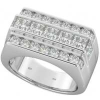 NEW Heavy Mens 925 SOLID Sterling Silver Wedding Ring 11mm + Gift Box