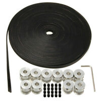 10m 33ft 20T GT2 Timing Belt 6mm wide & 10X Pulley For 3D printer CNC RepRap etc