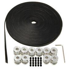 10m 33ft 20T GT2 Timing Belt 6mm wide & 10X Pulley For 3D printer CNC RepRap etc