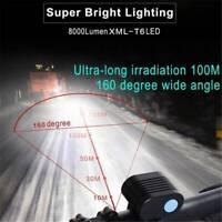 8000Lumen 2x XM-L2 LED Cycling light Headlight Headlamp Bike Front Bicycle Bike.