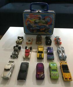 Hot Wheel Cars Lot Of 15: 1994 to 2000's plus Bonus Small Embossed Tin