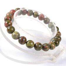 """10mm Fashion Unakite Round Gemstone Beads Stretchable Bracelet 7.5"""""""