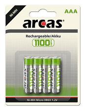 12 X Akku Micro ARCAS Ni-mh AAA 1100 mAh 1 2v wieder aufladbare ACCU