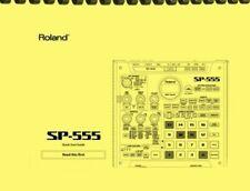 Roland Boss SP-555 Creative Sampler QUICK START GUIDE