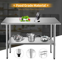 "24"" x 48"" Commercial Work Table Stainless Steel Food Prep Kitchen Restaurant"