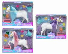 Its Girl Stuff Flocked Unicorn Figure And Accessories Playset