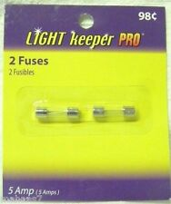 2  Fuses by Light Keeper Pro  5 amps/125V - C7 & C9 Size