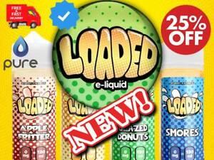 Loaded E Liquid Juice Vape 100 King Over Glazed Cookie Butter ml Full Range