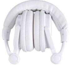 Écouteurs pliables blanc avec fil