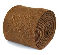 Frederick Thomas hommes 100% LAINE CRAVATE EN marron laine carreaux ft1939
