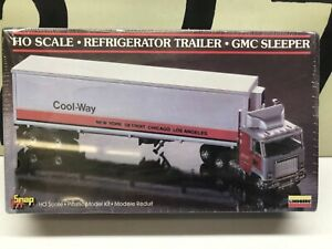 Lindberg Ho Scale 1:87 GMC Sleeper Cab with Cool Way Reefer Trailer Sealed NOS