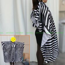 Pro Adult ZEBRA Clothes Cape Barbers Hairdressing Hair Cutting Salon Tool NEW